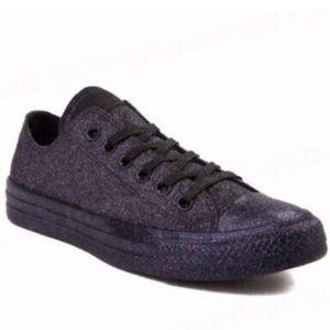 Converse- Chuck Taylors- All Over Dark Purple Glit